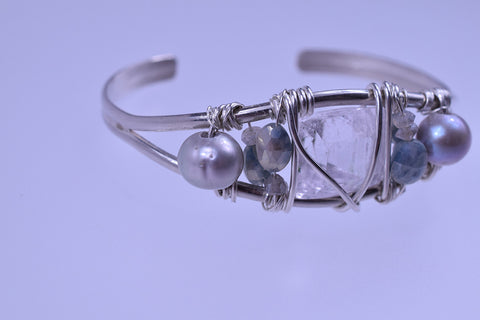 Kunzite Cuff of Protection