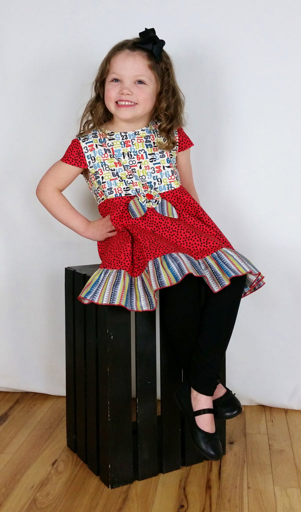 Number Line Dance Tunic