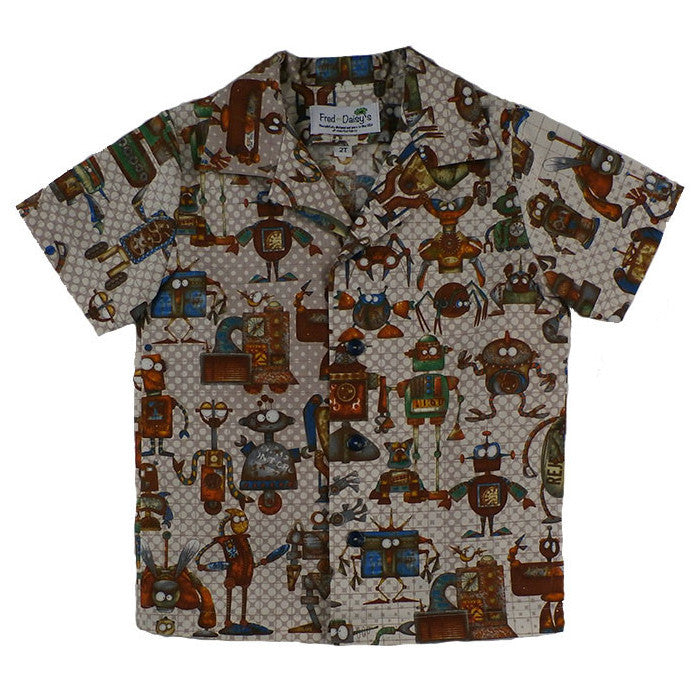 Robot Buddies Button Front Shirt