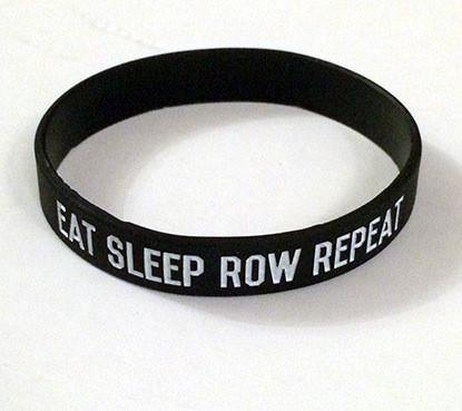 Eat Sleep Row Repeat Silicone Wristband - Accessories - Square Blades Rowing Apparel Company