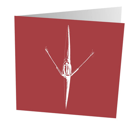 Sculler Art Greetings Card - Greetings Card - Square Blades Rowing Apparel Company