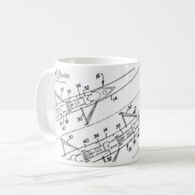 Great Eight Blueprint Belgrave Mug - Square Blades
