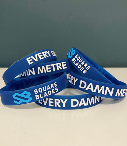 Every Damn Metre Silicone 3D Wristband - Square Blades