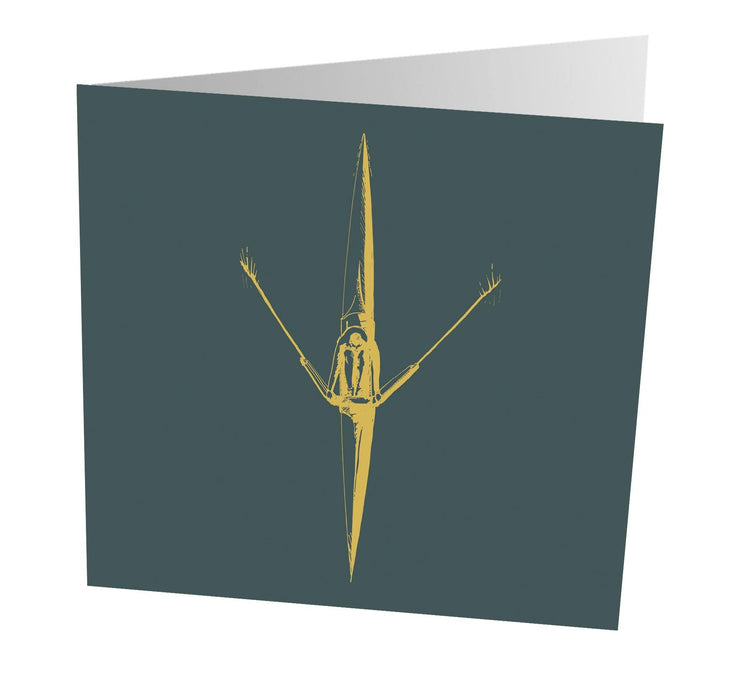 Sculler Art Greetings Card - Accessories - Square Blades Apparel