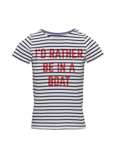 Rather be in A Boat Breton T-Shirt - Square Blades