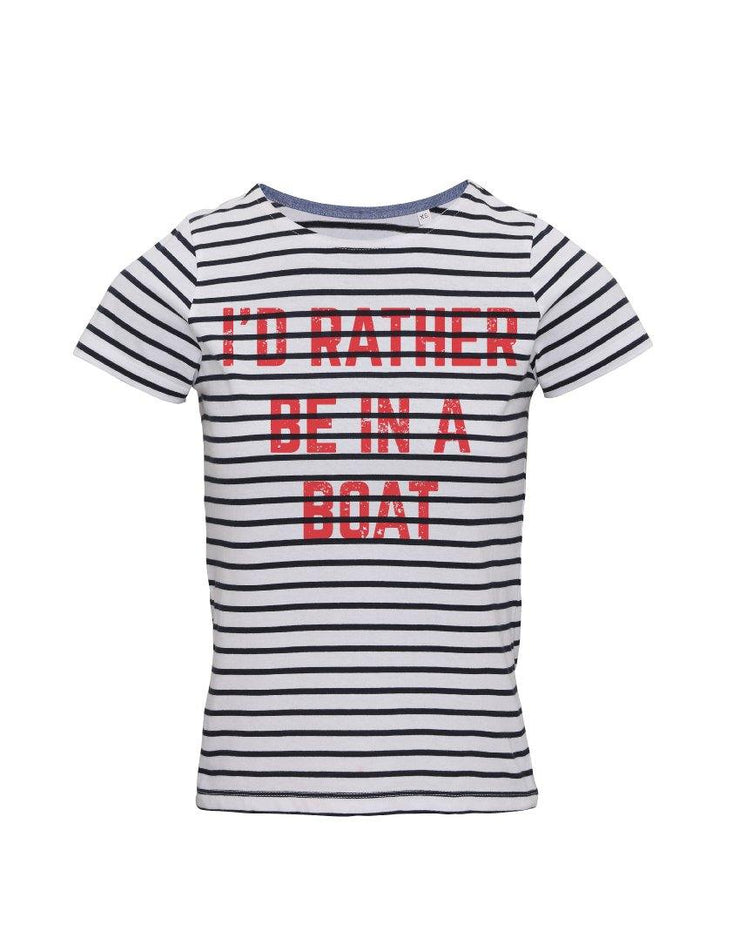 Rather be in A Boat Breton T-Shirt - T-Shirts - Square Blades Apparel
