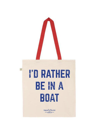 I'd Rather be in a Boat Tote Bag