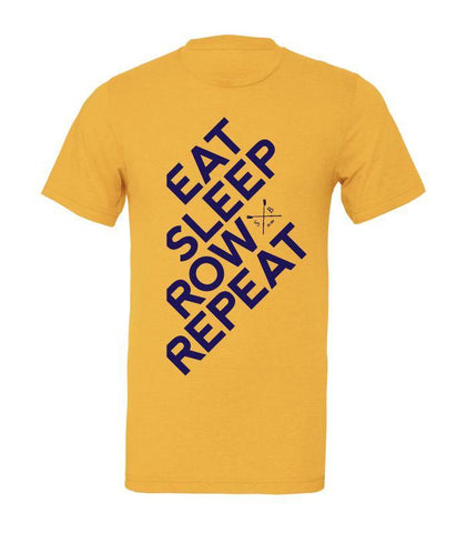 Eat Sleep Row Repeat T-Shirt - T-Shirts - Square Blades Rowing Apparel Company