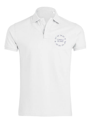 Churton Temple Island Men's Polo Shirt - T-Shirts - Square Blades Rowing Apparel Company