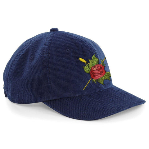 Heritage Rose Oars Corduroy Cap - Hats - Square Blades Rowing Apparel Company