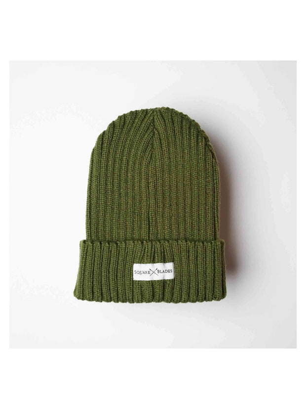 Boston Chunky Ribbed Beanie Hat - Square Blades