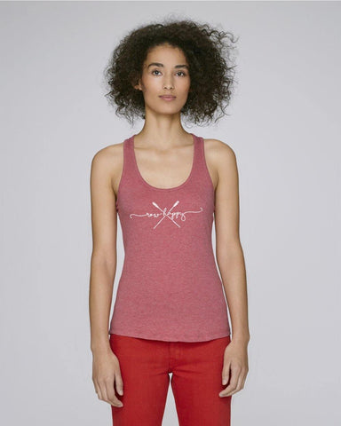 Newbridge Row Happy Script Vest - Vests & Tanks - Square Blades Rowing Apparel Company