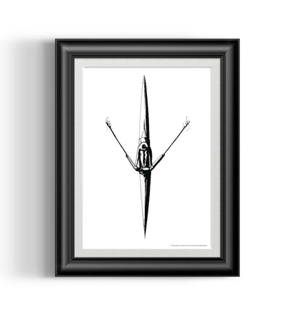 Sculler Art Giclée Print - Accessories - Square Blades Rowing Apparel Company