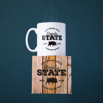 Steady State Watt Farm Mug - Square Blades