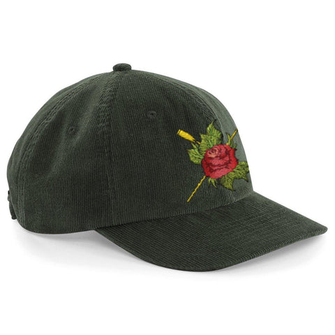 Heritage Rose Oars Corduroy Cap - Hats - Square Blades Apparel