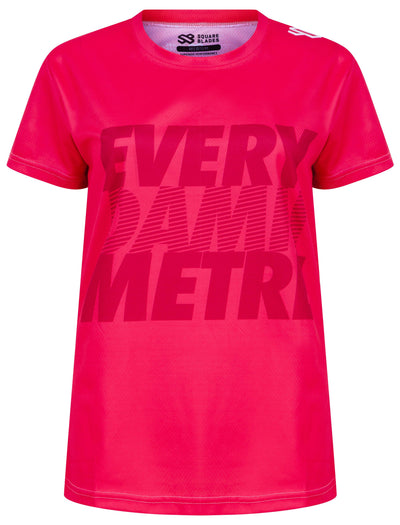 Women's Every Damn Metre T-shirt - Square Blades