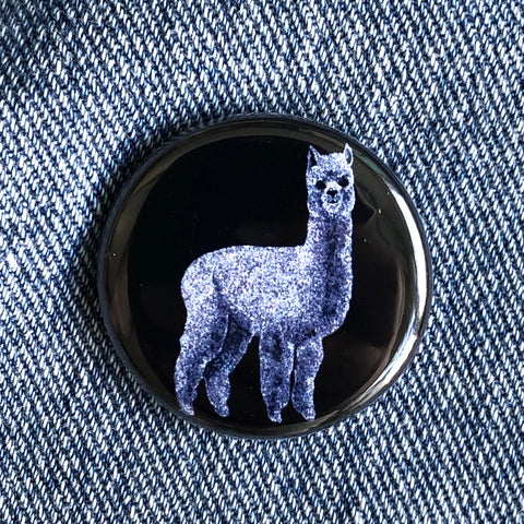 ALPACA BUTTON 1.25""