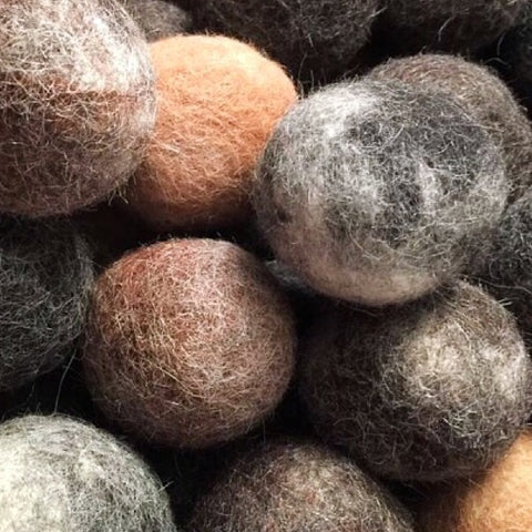 FELTED ALPACA DRYER BALLS  Set of 3