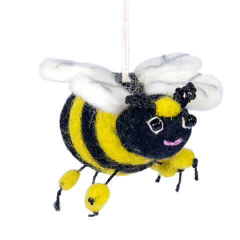 WILD WOOLIE'S FELTED ORNAMENT Honey Bee