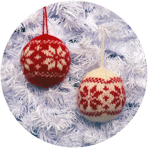 NORDIC BALL ORNAMENT BABY ALPACA Assorted