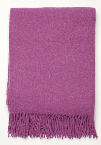 Solid Blanket by Classic Alpaca - purple