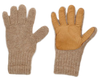 DRIVING GLOVES ALPACA & LEATHER Fawn