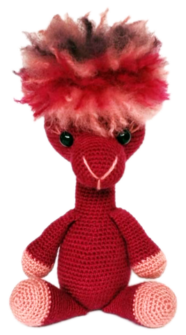 Buck Brook Alpacas' MY ALPACA PET Made with CATSKILLS LEGACY YARN Celebration