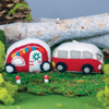 WILD WOOLIE'S FELTED ORNAMENT Retro Camper (red)