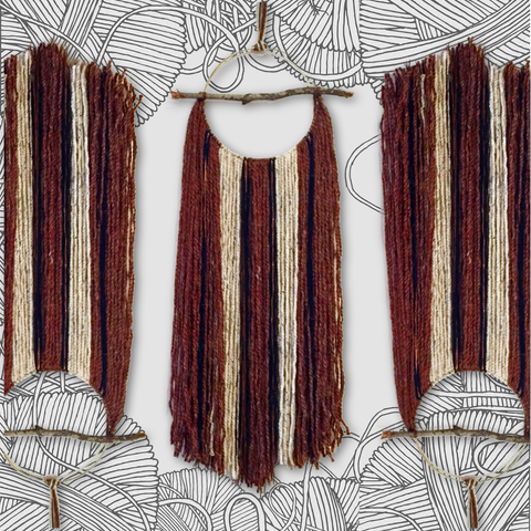 OCT 10 - FALL FIBER WALL HANGING WORKSHOP (Single Ticket) Choose from 11AM & 1PM