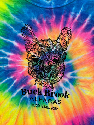 BUCK BROOK ALPACAS NOVELTY TIE-DYE T-SHIRTS-ADULT