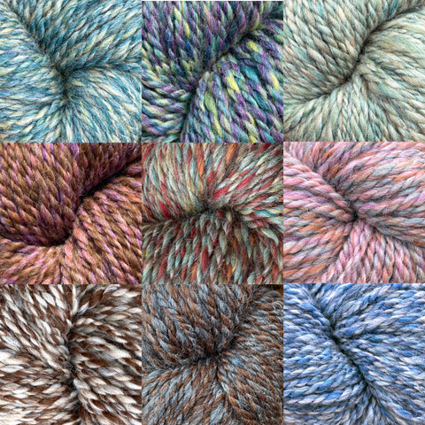 The Buck Brook IMPRESSIONIST SERIES Hand-Painted Bulky Yarn