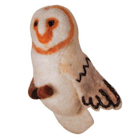 WILD WOOLIES FELTED WOOL ORNAMENT Barn Owl