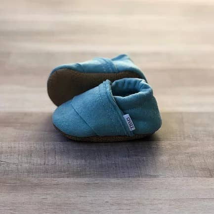 TRENDY BABY MOCC SHOP FELT MOCCASINS Sea Blue