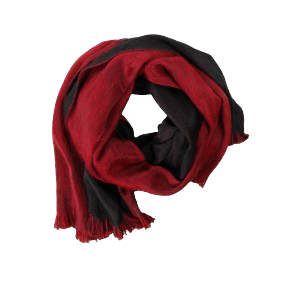 REVERSIBLE WRAP BRUSHED ALPACA Sangria/Onyx