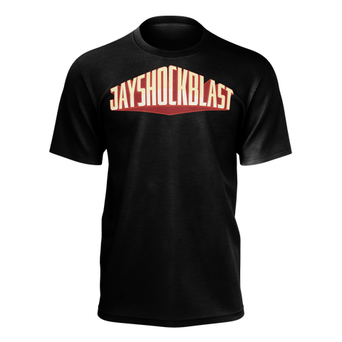 JAYSHOCKBLAST: BLACK FULL LOGO T-SHIRT