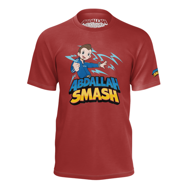 ABDALLAHSMASH026: SMASH RED T-SHIRT