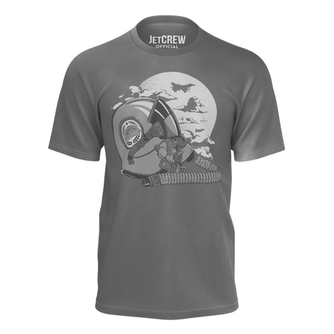 JETCREW: AVIATOR T-SHIRT - GREY