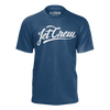 JETCREW: BLUE LOGO BLACK T-SHIRT