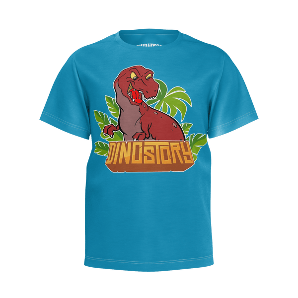 Dinostory T-Rex Blue T-Shirt - Youth