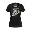 CJ SO COOL: SNEAKER BLACK T-SHIRT - WOMEN