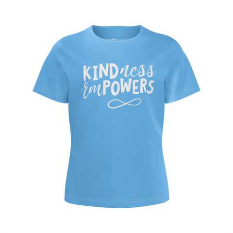 CASEY SIMPSON: KINDNESS EMPOWERS BLUE T-SHIRT - GIRLS
