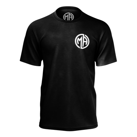 M.A. Black Chest Logo Tee