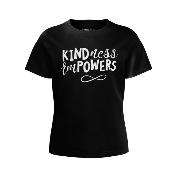 CASEY SIMPSON: KINDNESS EMPWERS BLACK T-SHIRT - GIRLS