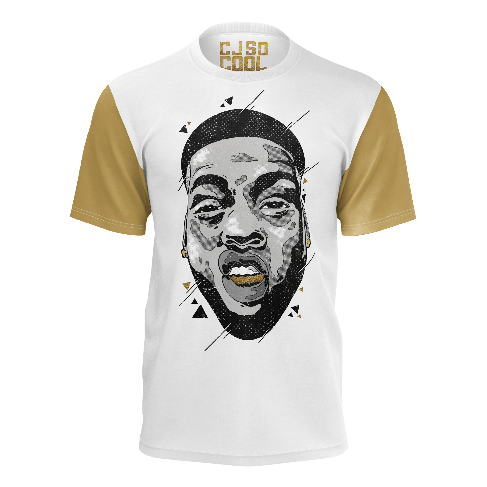 cj so cool face gold sleeve tee bbtv shop