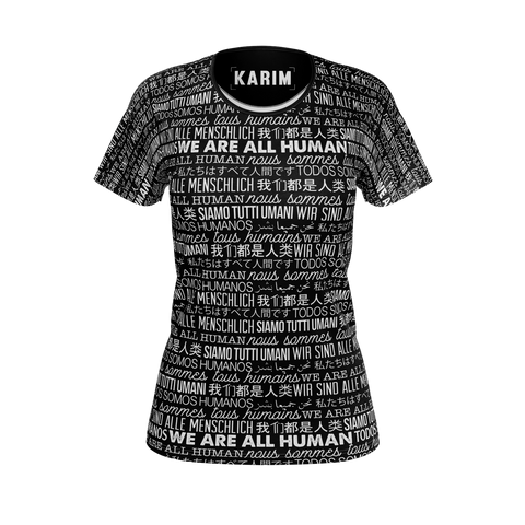 KARIM JOVIAN: WE ARE ALL HUMANS T-SHIRT - WOMEN