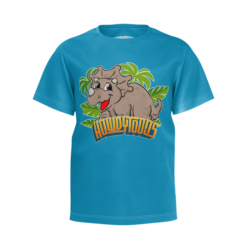Howdytoons Triceratops T-Shirt - Youth