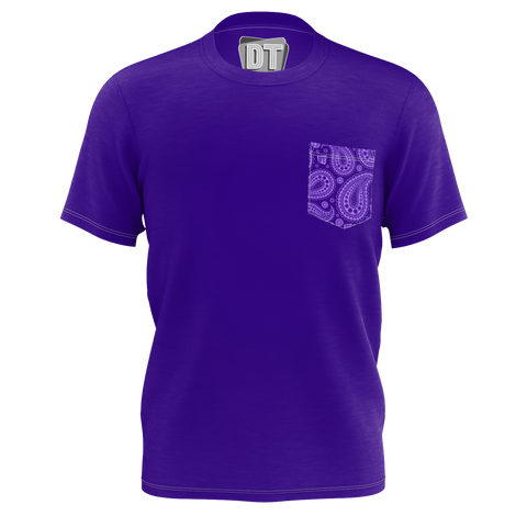 DOUBLE TOASTED: PATTERN PURPLE T-SHIRT