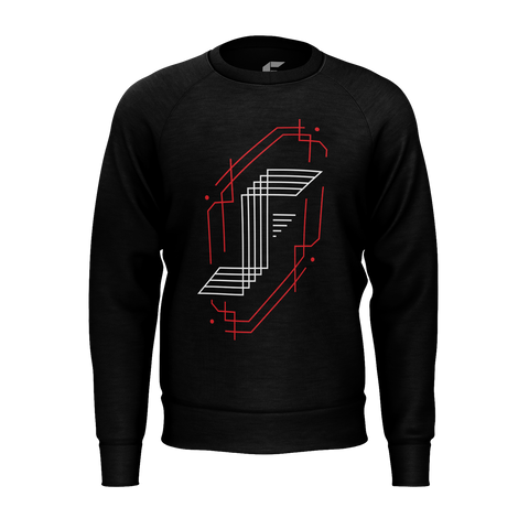 JACKFRAGS: BLACK LOGO SWEATER
