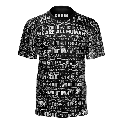 KARIM JOVIAN: WE ARE ALL HUMANS T-SHIRT - BLACK