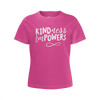 CASEY SIMPSON: KINDNESS EMPOWERS PINK T-SHIRT - GIRLS